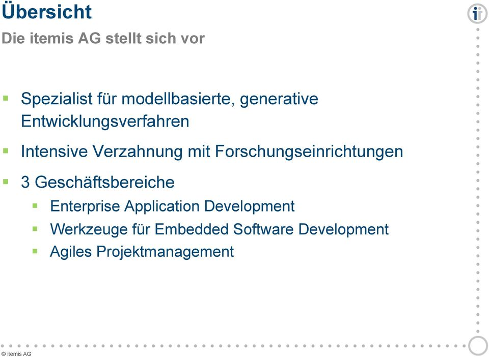 Enterprise Application Development Werkzeuge für Embedded Software