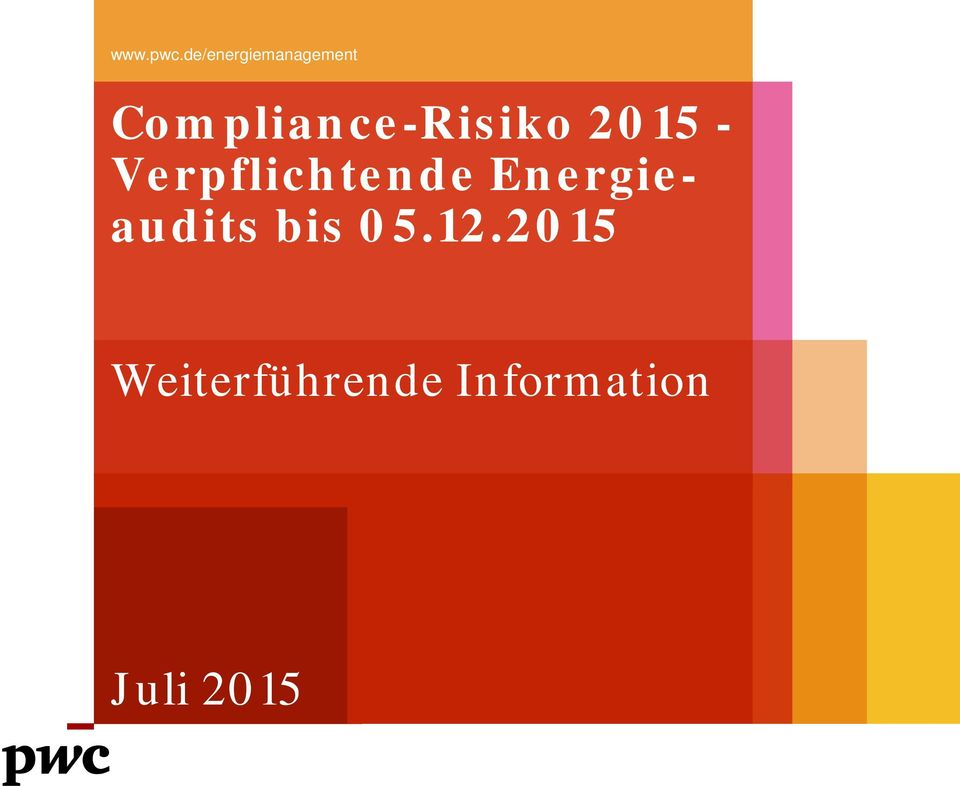Compliance-Risiko 2015 -
