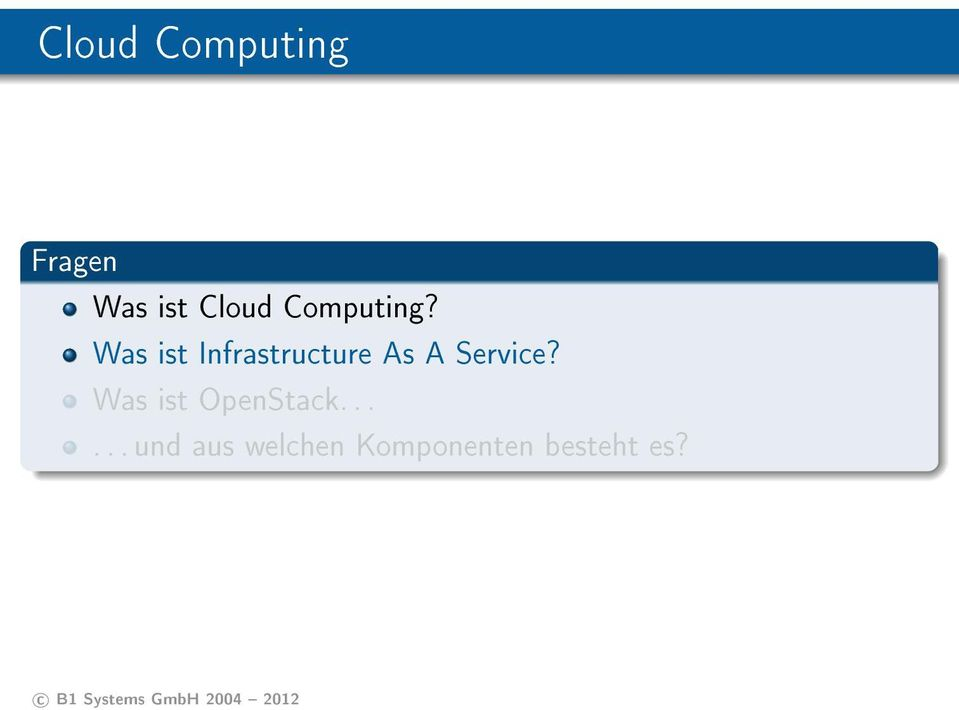 Was ist Infrastructure As A Service?