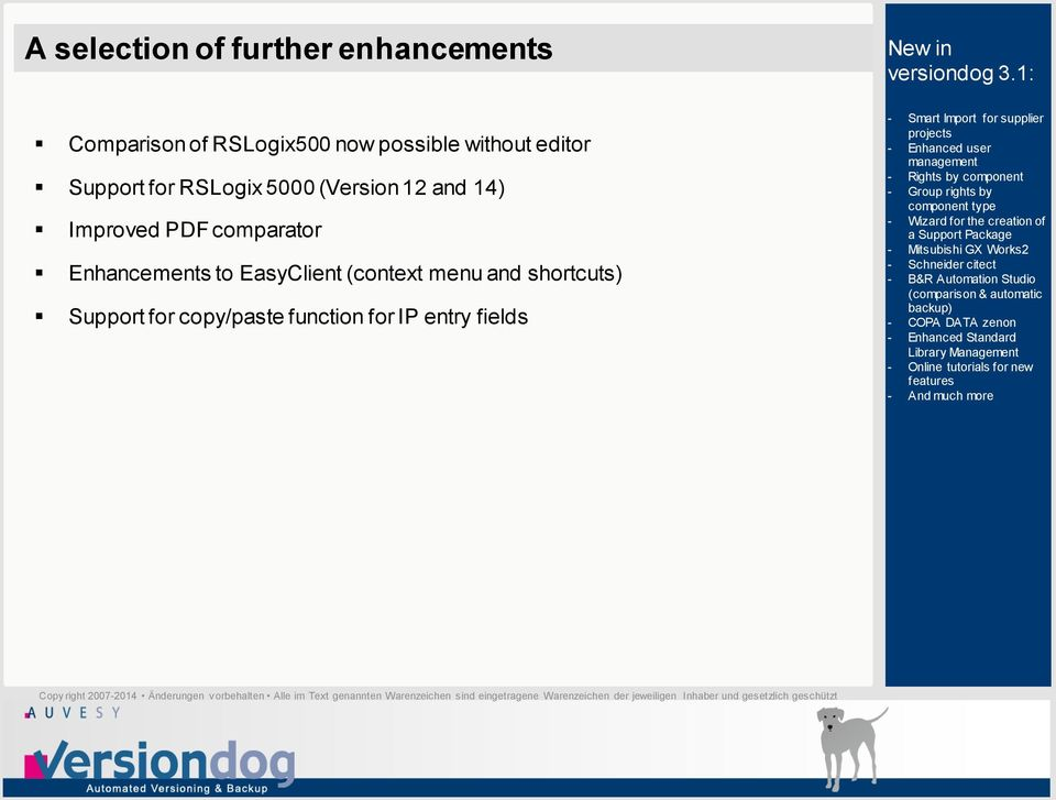 14) Improved PDF comparator Enhancements to EasyClient (context