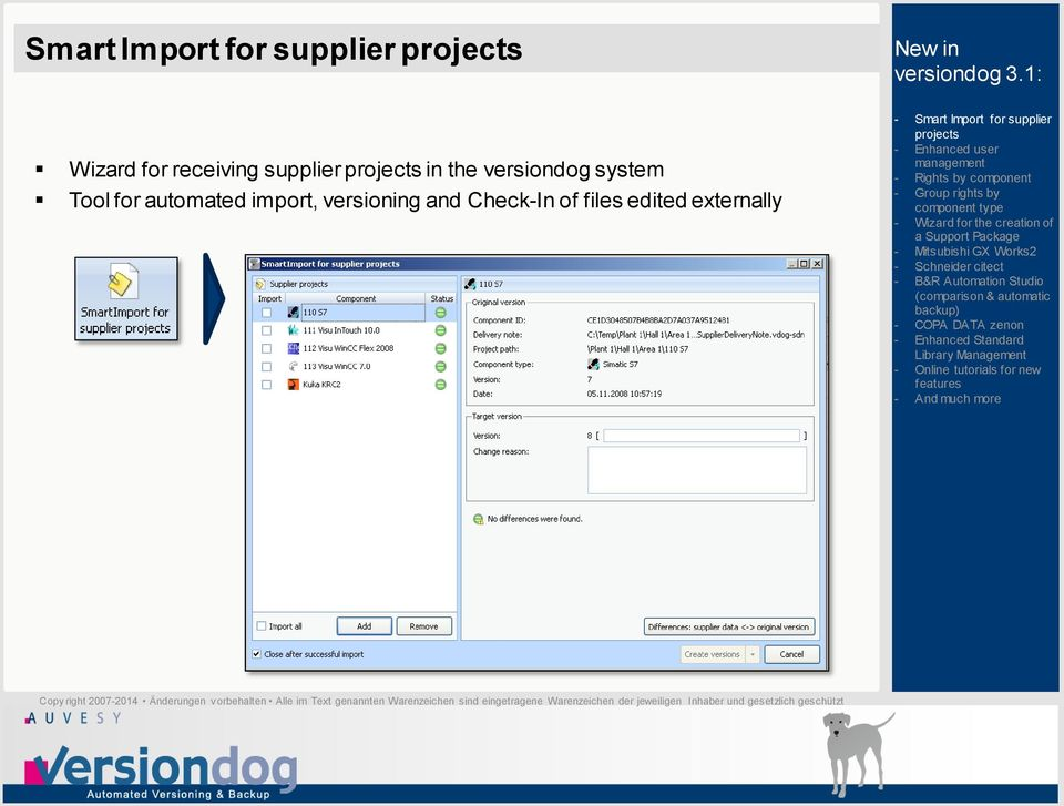 system Tool for automated import,