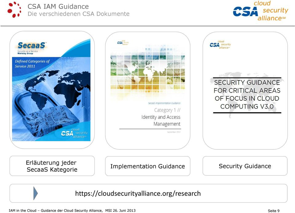 Guidance https://cloudsecurityalliance.