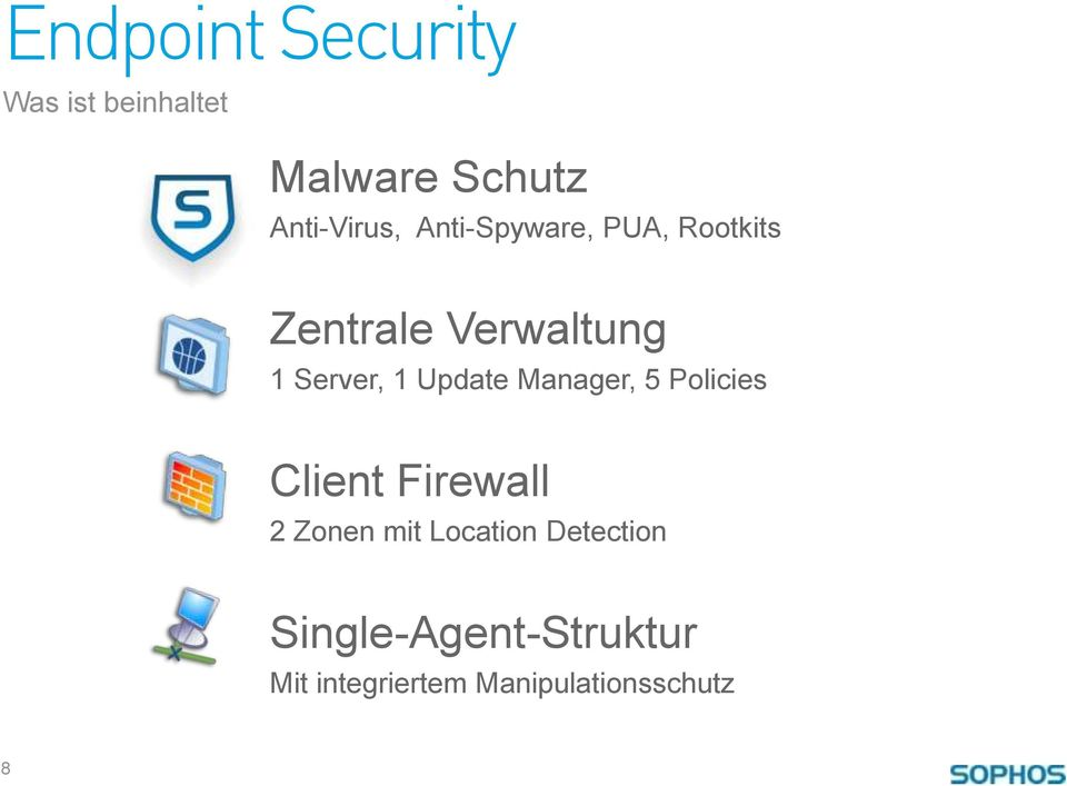 Update Manager, 5 Policies Client Firewall 2 Zonen mit Location