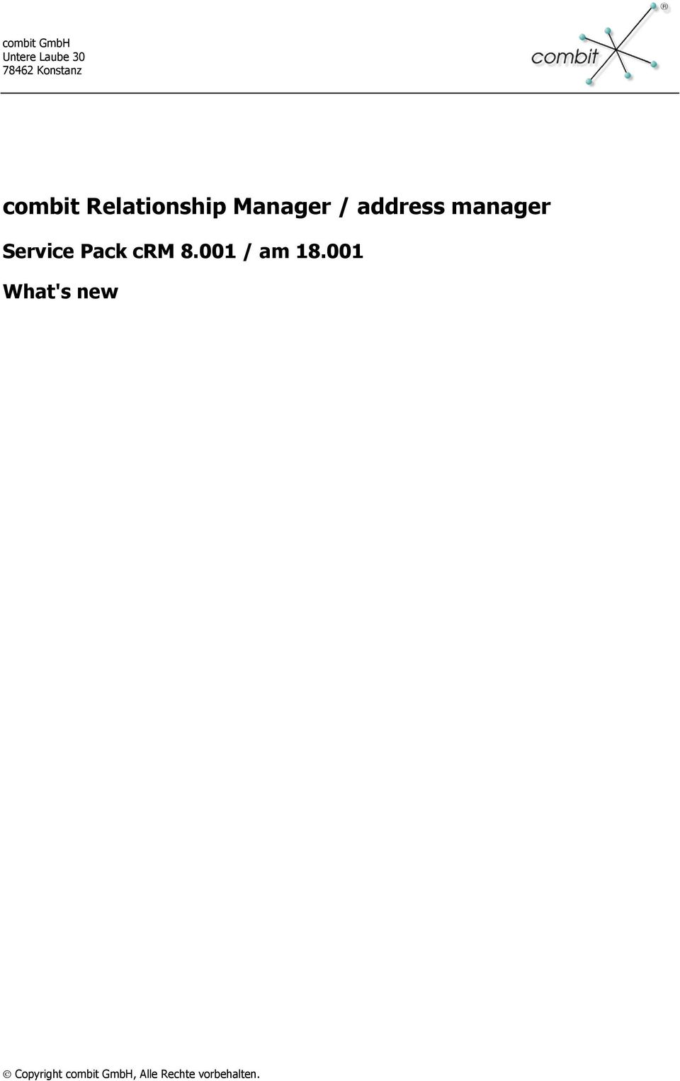 Manager / address manager Service