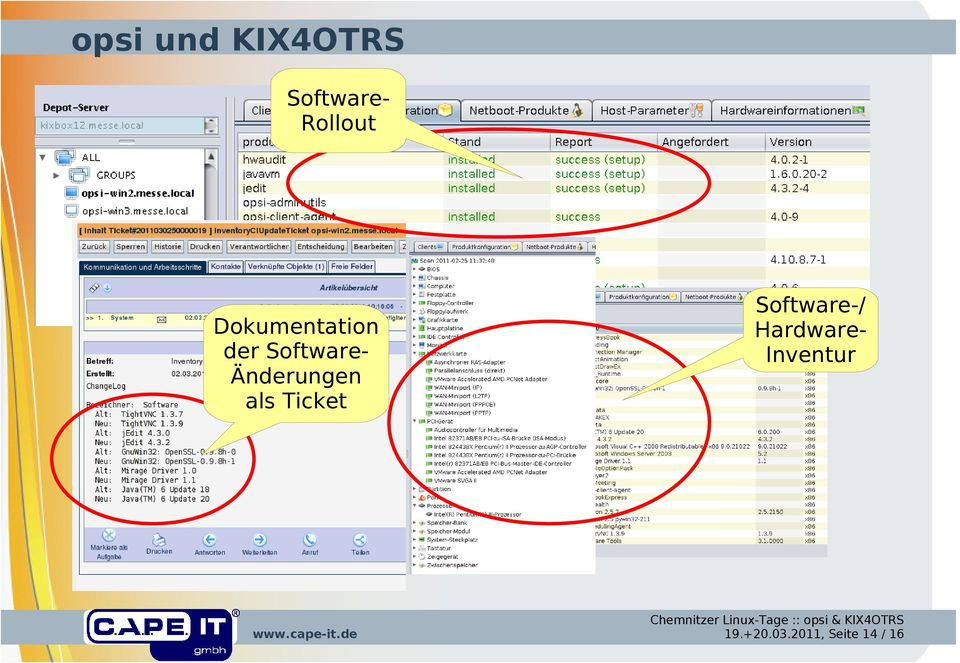 SoftwareÄnderungen als Ticket