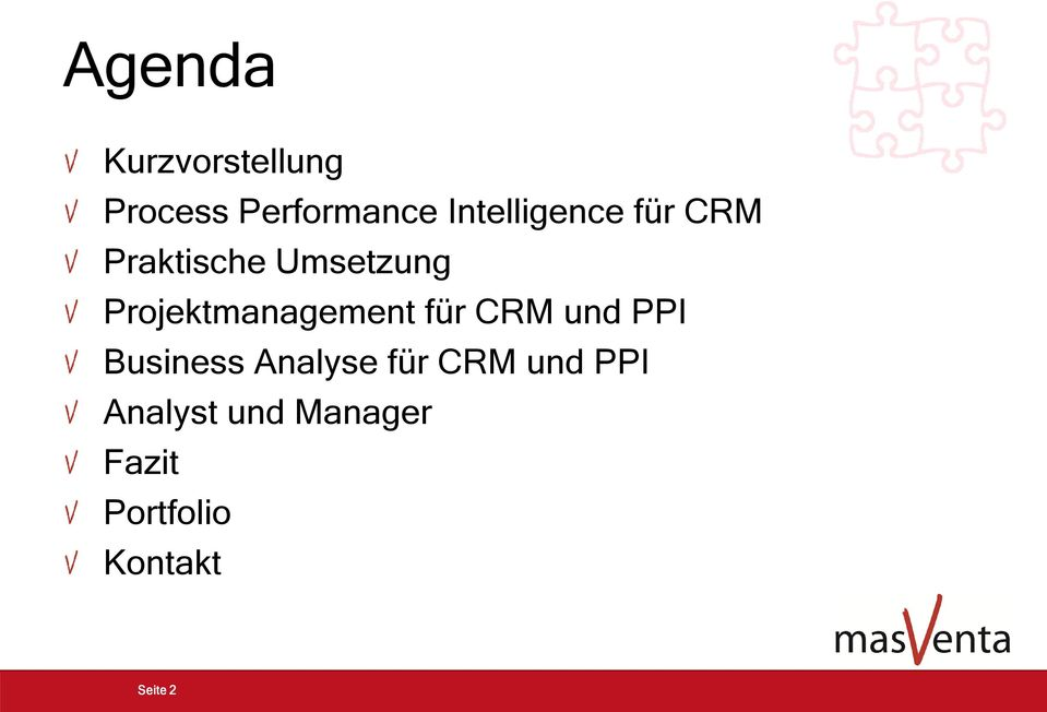 Projektmanagement für CRM und PPI Business Analyse