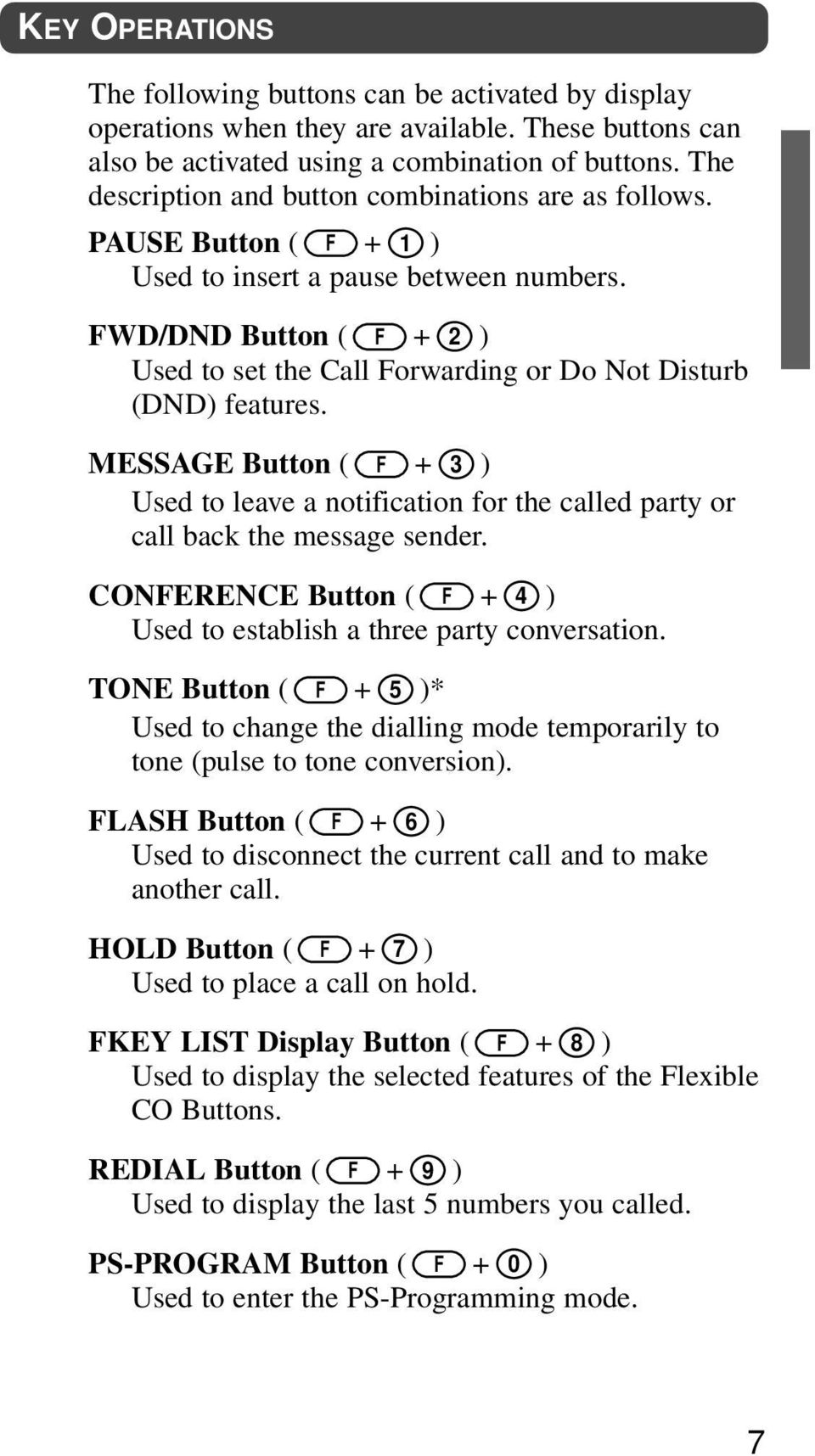 FWD/DND Button ( F + ) Used to set the Call Forwarding or Do Not Disturb (DND) features. MESSAGE Button ( F + 3 ) Used to leave a notification for the called party or call back the message sender.