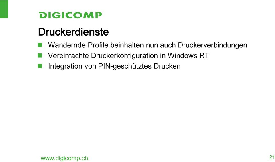 Druckerkonfiguration in Windows RT