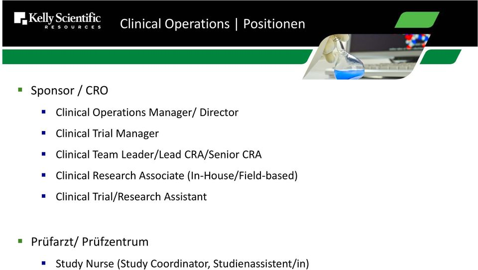Clinical Research Associate (In House/Field based) Clinical Trial/Research