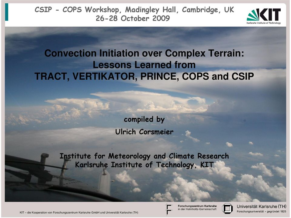 VERTIKATOR, PRINCE, COPS and CSIP compiled by Ulrich Corsmeier Institute