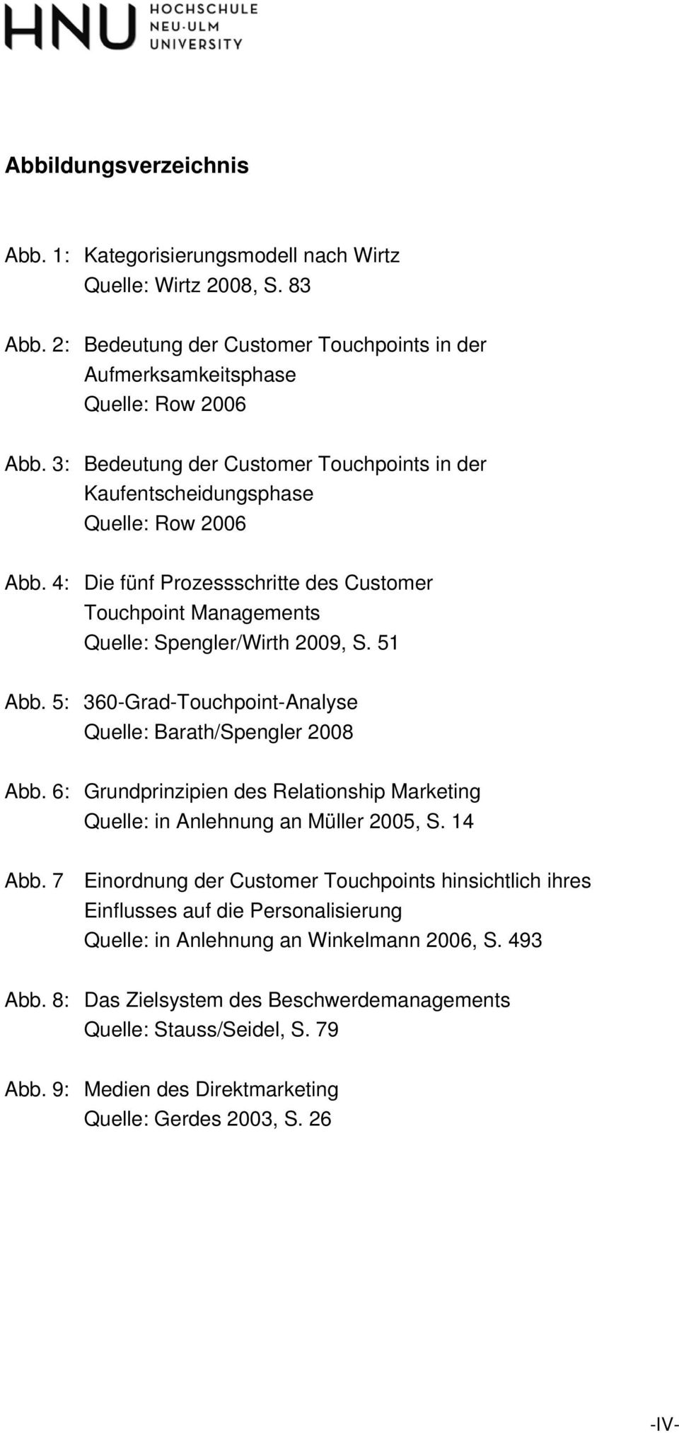 5: 360-Grad-Touchpoint-Analyse Quelle: Barath/Spengler 2008 Abb. 6: Grundprinzipien des Relationship Marketing Quelle: in Anlehnung an Müller 2005, S. 14 Abb.