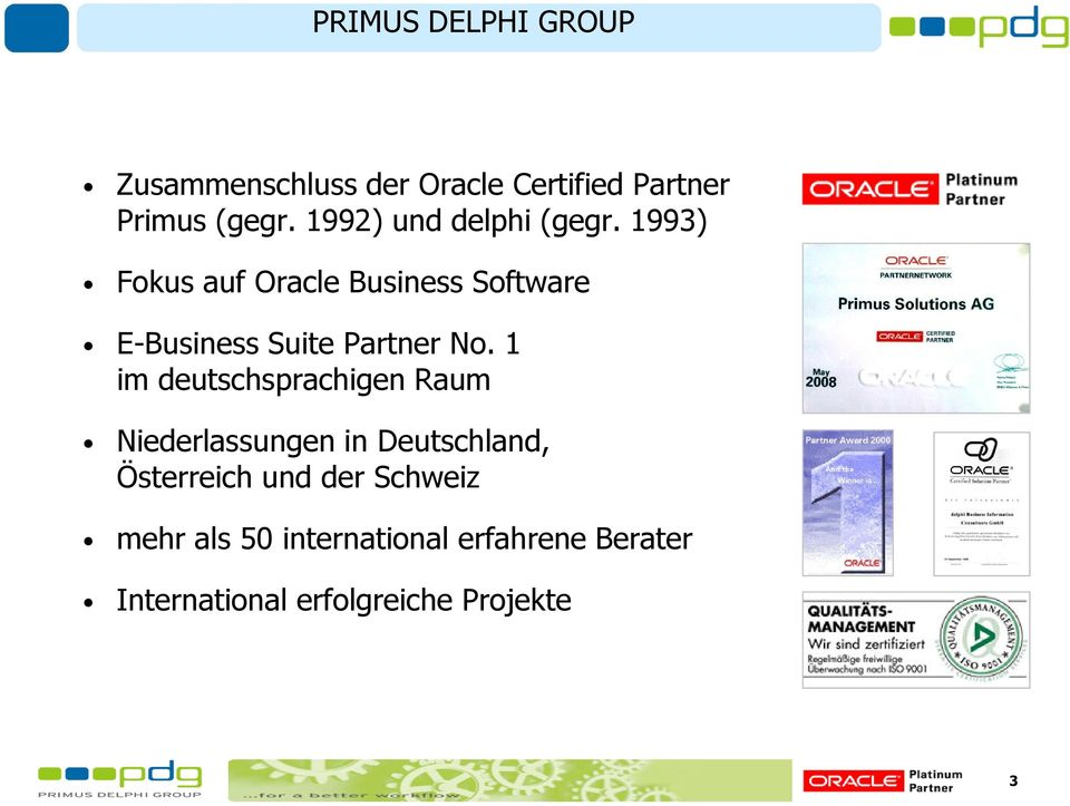 1993) Fokus auf Oracle Business Software E-Business Suite Partner No.