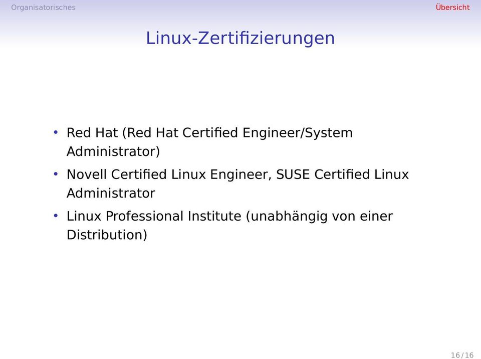 Engineer, SUSE Certified Linux Administrator Linux