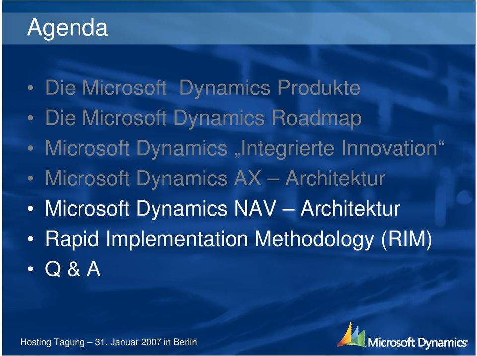 Innovation Microsoft Dynamics A Architektur Microsoft
