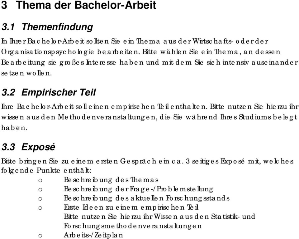 Bachelor thesis themen wirtschaftspsychologie gprs research papers