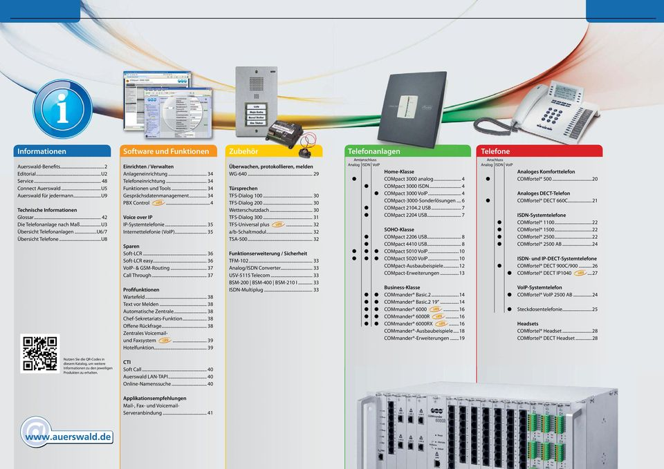 .. 3 Gesprächsdatenmanagement... 3 PBX Control... Voice over IP IP-Systemtelefonie... 35 Internettelefonie (VoIP)... 35 Sparen Soft-LCR... 36 Soft-LCR easy... 36 VoIP- & GSM-Routing... 37 Call Through.