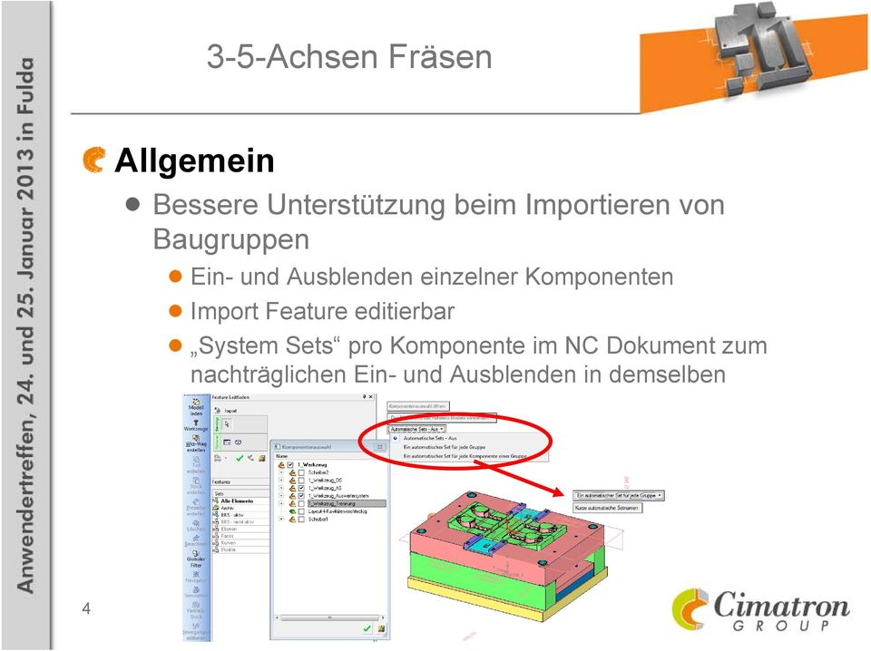 Import Feature editierbar System Sets pro Komponente im