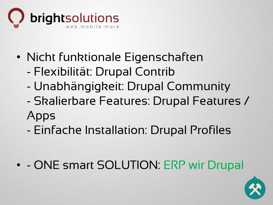 Skalierbare Features: Drupal Features / Apps - Einfache