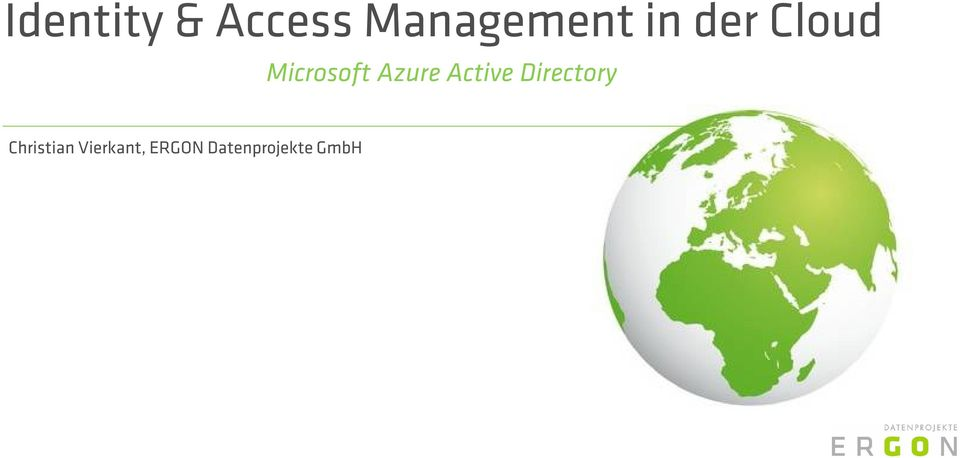 Active Directory Christian