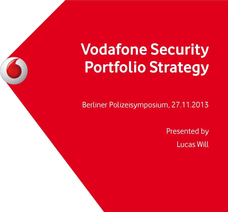 Vodafones strategy
