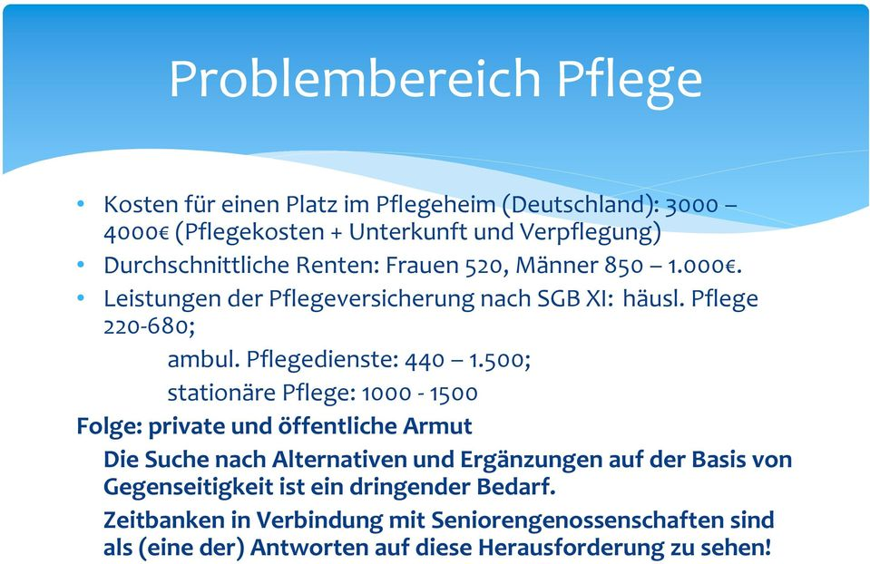 Pflegedienste: 440 1.