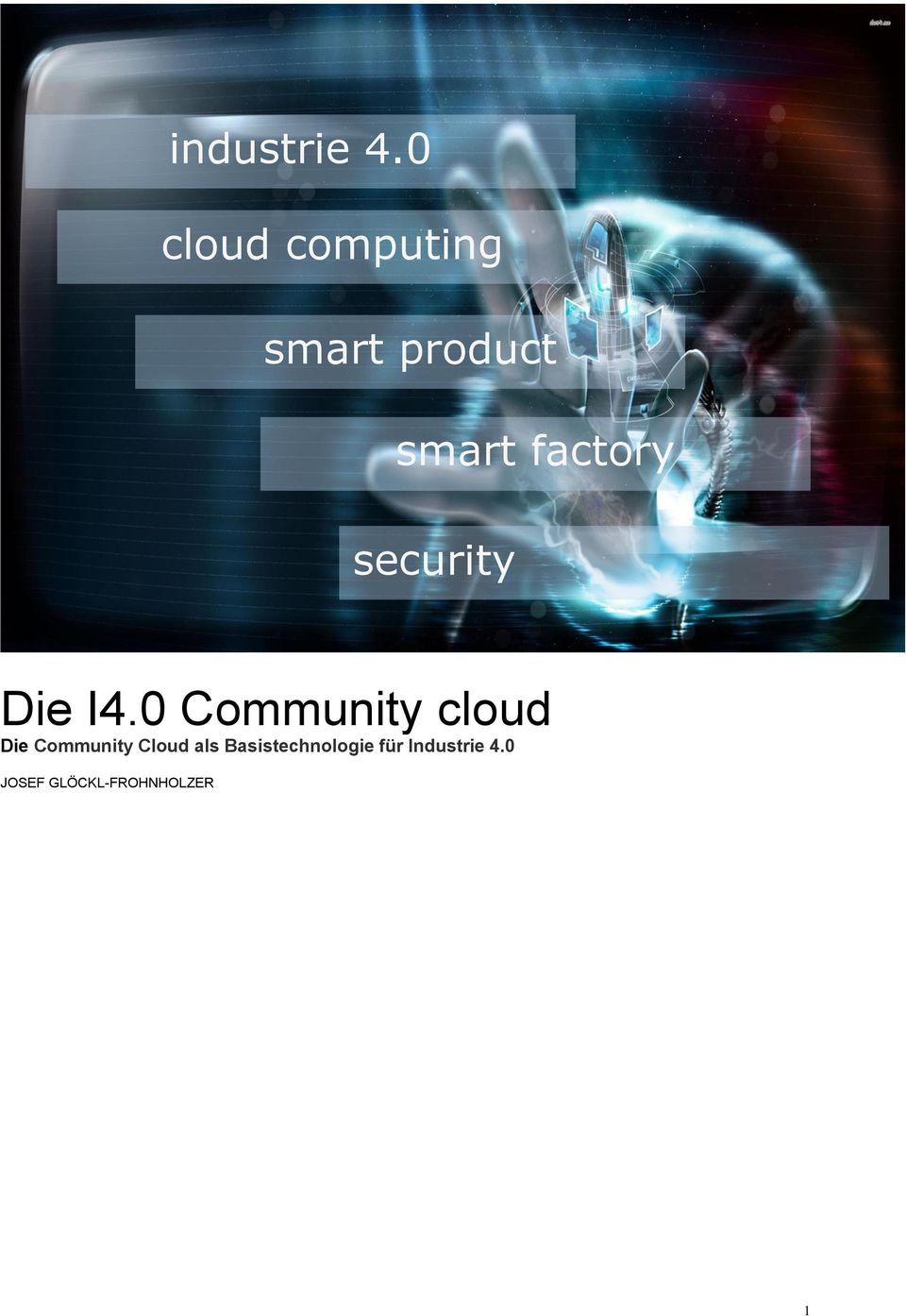 smart factory security Die I4.