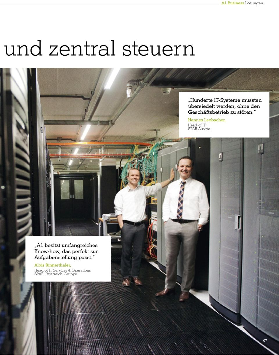 Hannes Leobacher, Head of IT SPAR Austria A1 besitzt umfangreiches Know-how, das