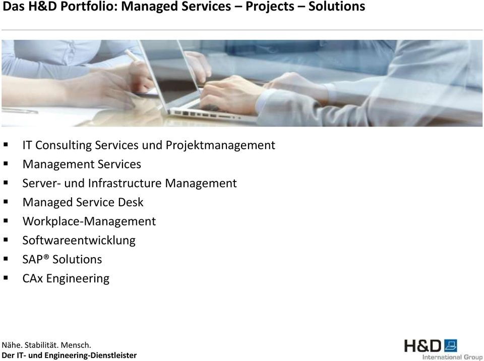 Server- und Infrastructure Management Managed Service Desk