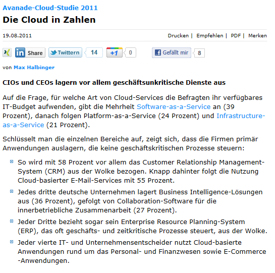 Cloud Computing heute http://www.