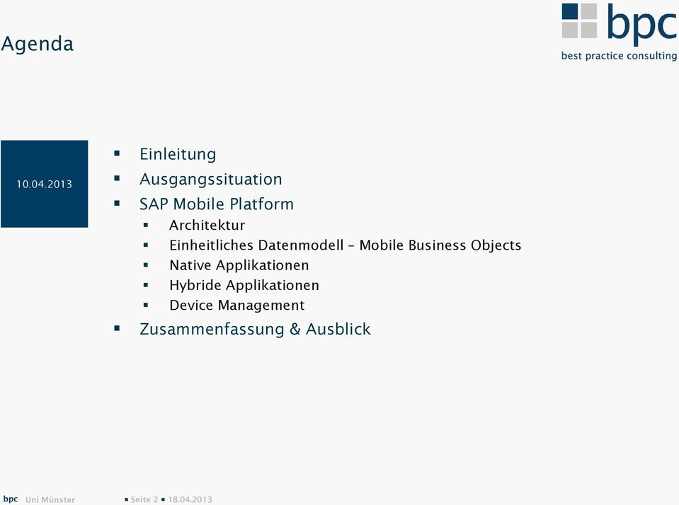 Einheitliches Datenmodell Mobile Business Objects Native