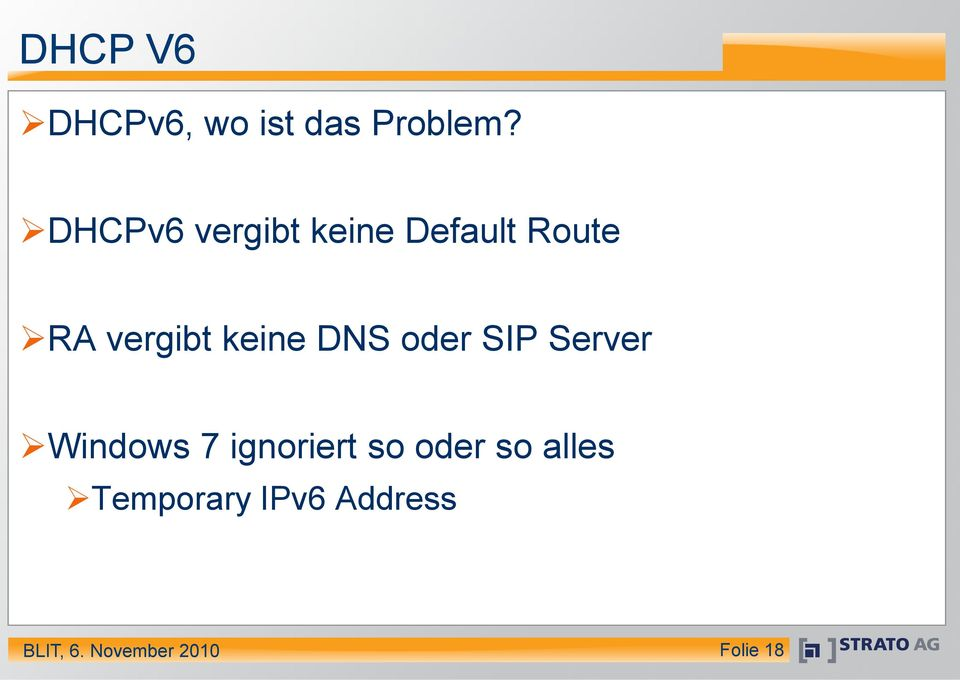 vergibt keine DNS oder SIP Server Windows 7