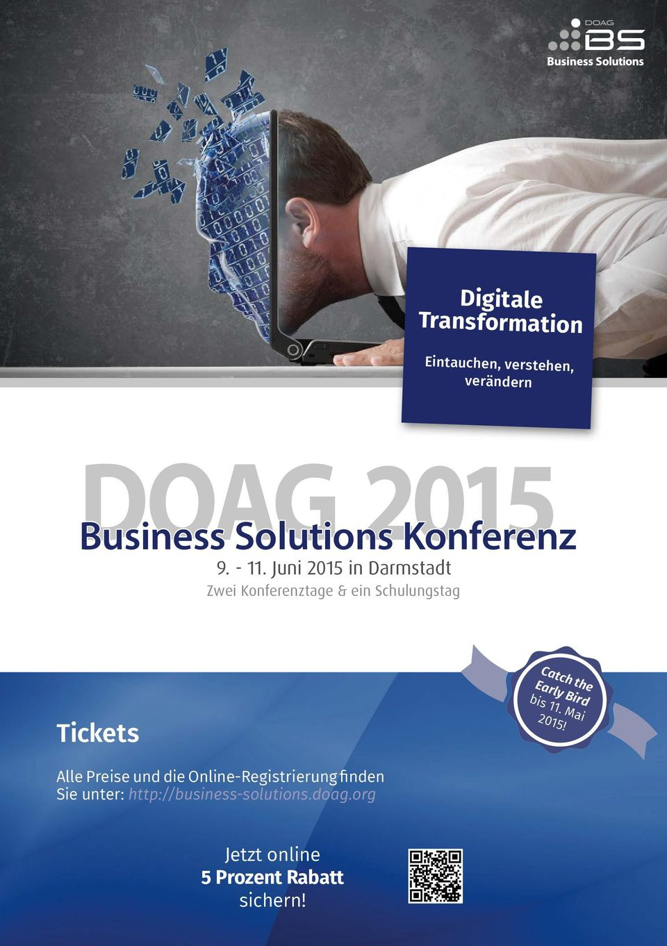 Konferenz Tickets Catch the Early Bird bis 11. Mai 2015!