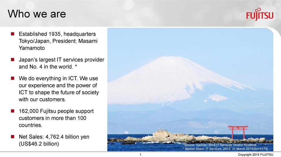 We use our experience and the power of ICT to shape the future of society with our customers.