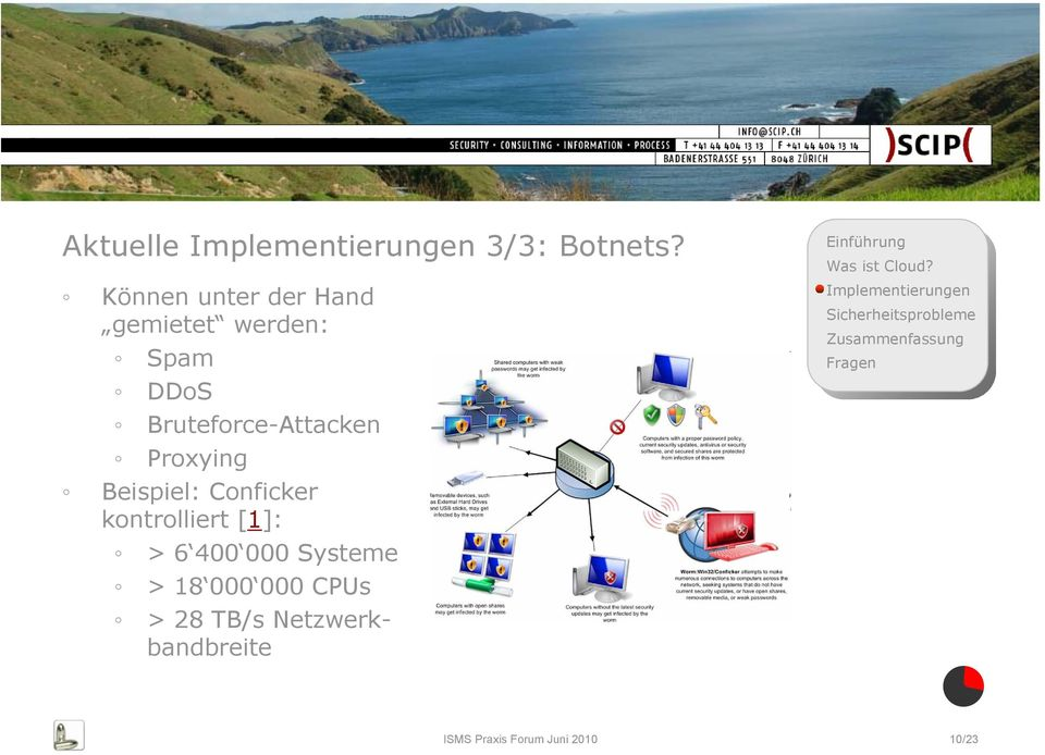 Bruteforce-Attacken Proxying Beispiel: Conficker