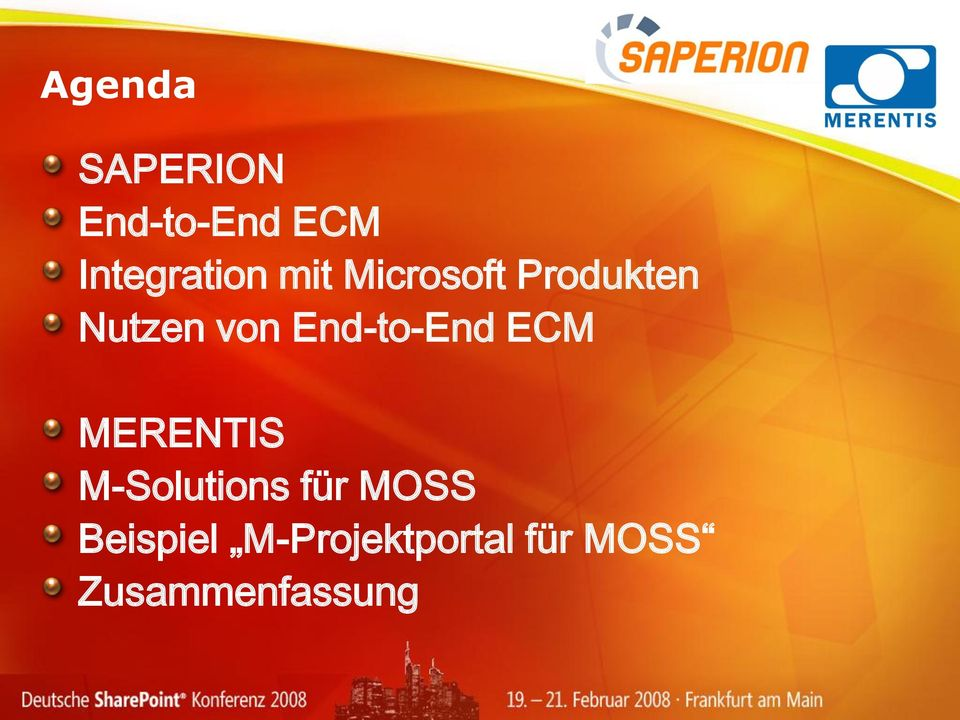 End-to-End ECM MERENTIS M-Solutions für