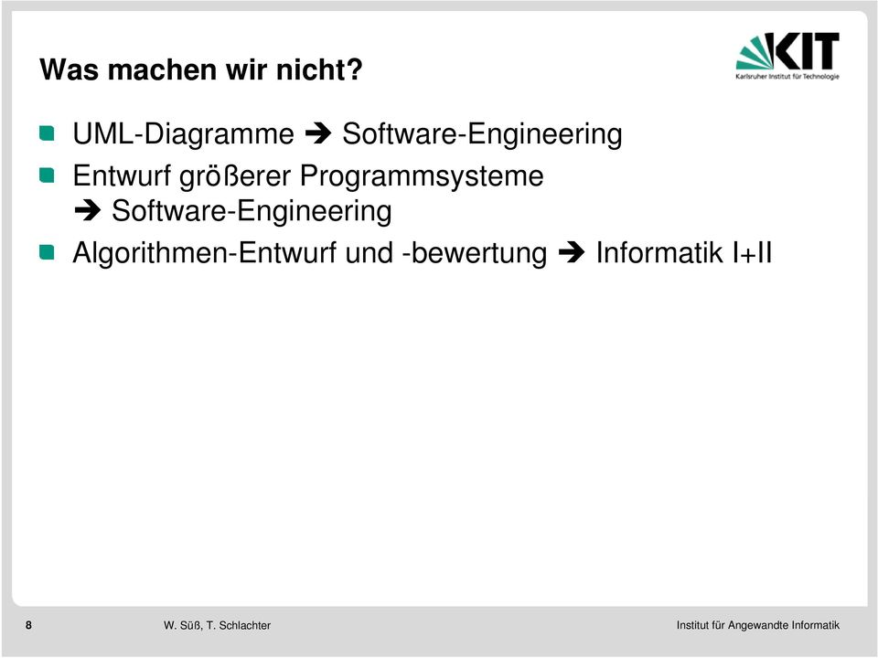 größerer Programmsysteme Software-Engineering
