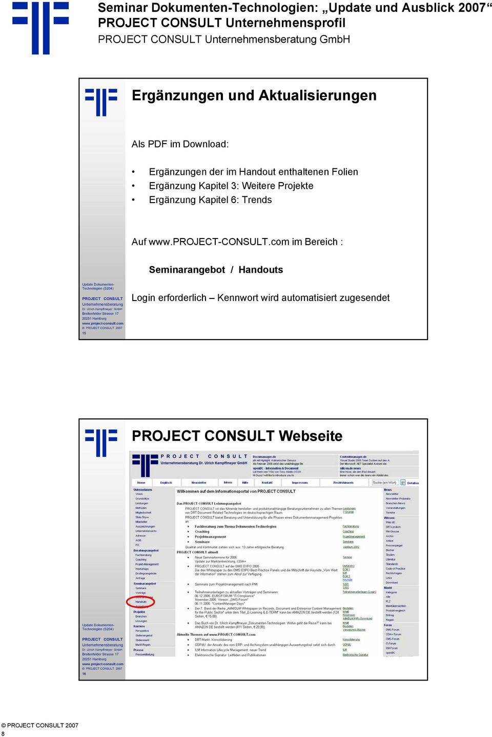 Auf www.project-consult.