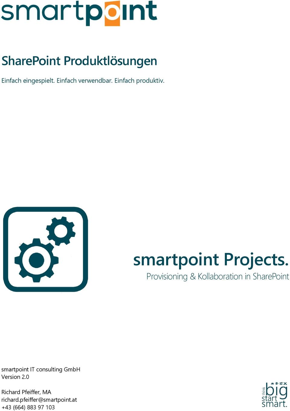 Provisioning & Kollaboration in SharePoint smartpoint IT