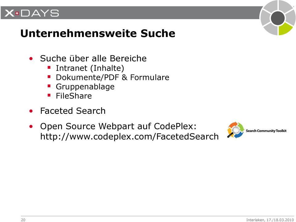 Gruppenablage FileShare Faceted Search Open Source