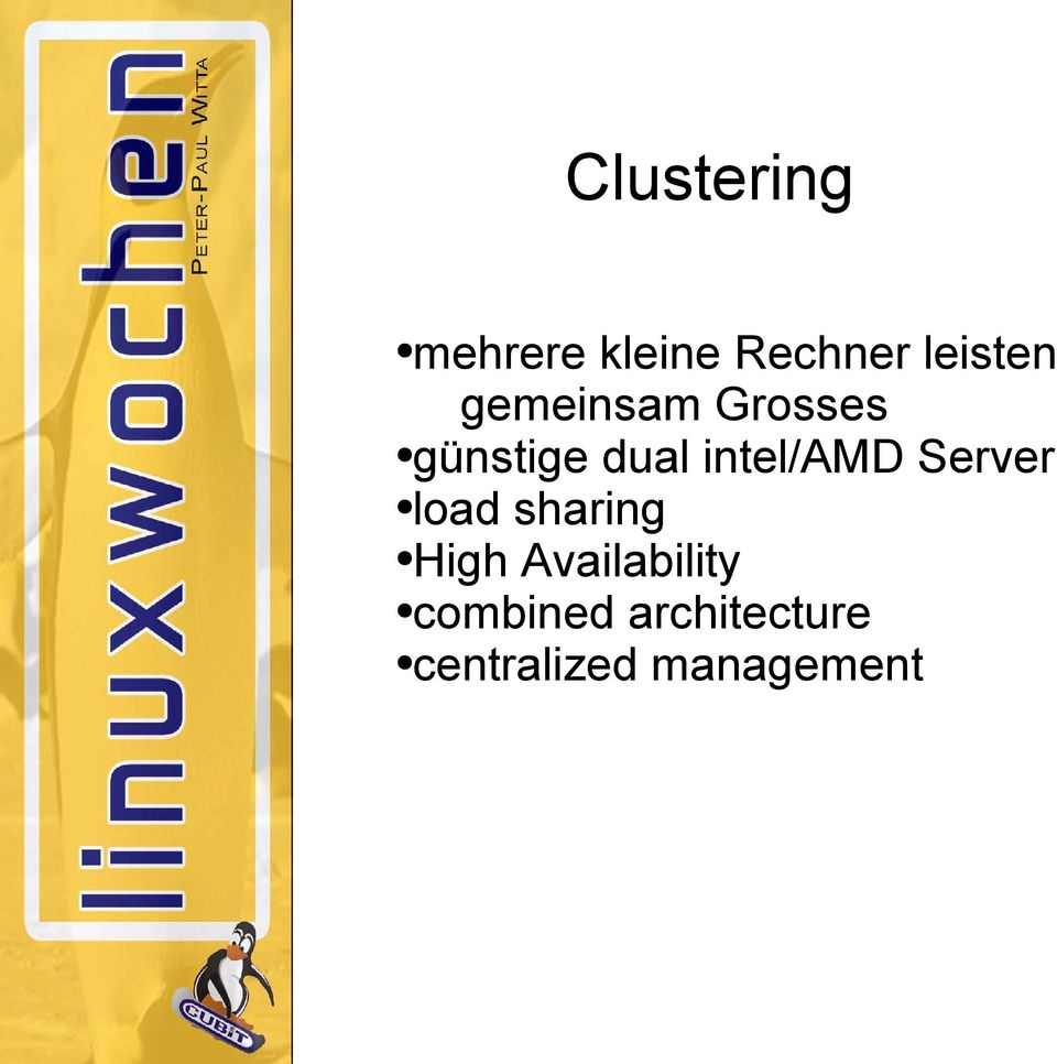 Server load sharing High Availability