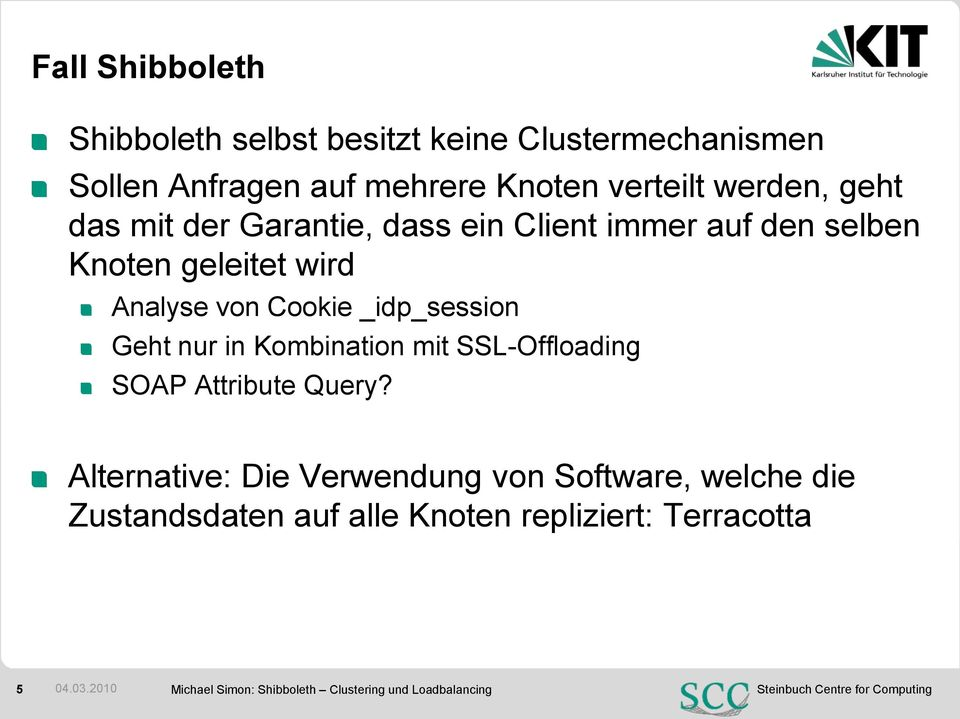 Geht nur in Kombination mit SSL-Offloading SOAP Attribute Query?