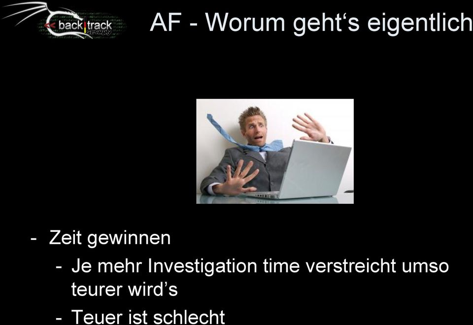 Investigation time verstreicht