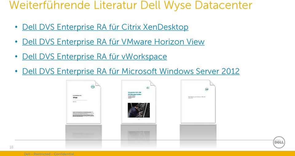 View Dell DVS Enterprise RA für vworkspace Dell DVS Enterprise RA