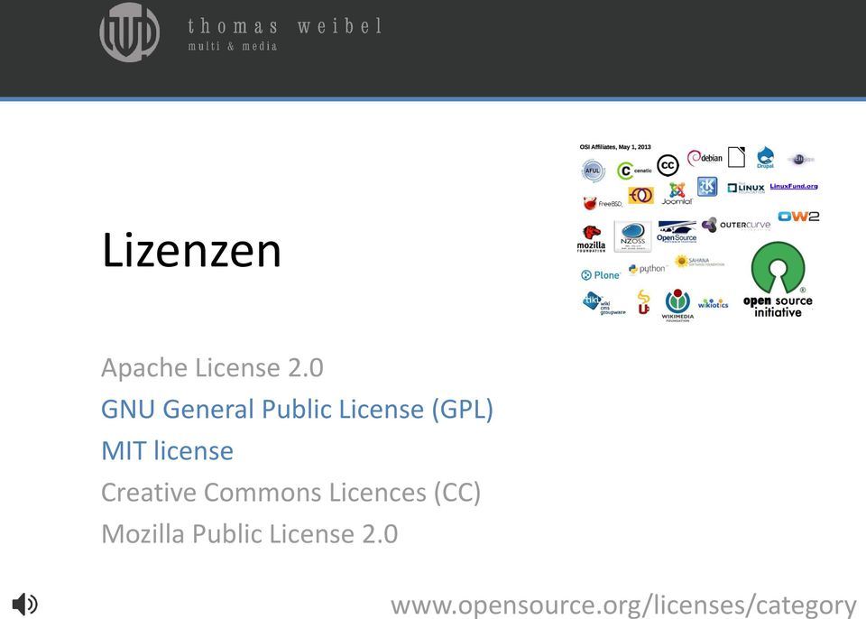 license Creative Commons Licences (CC)
