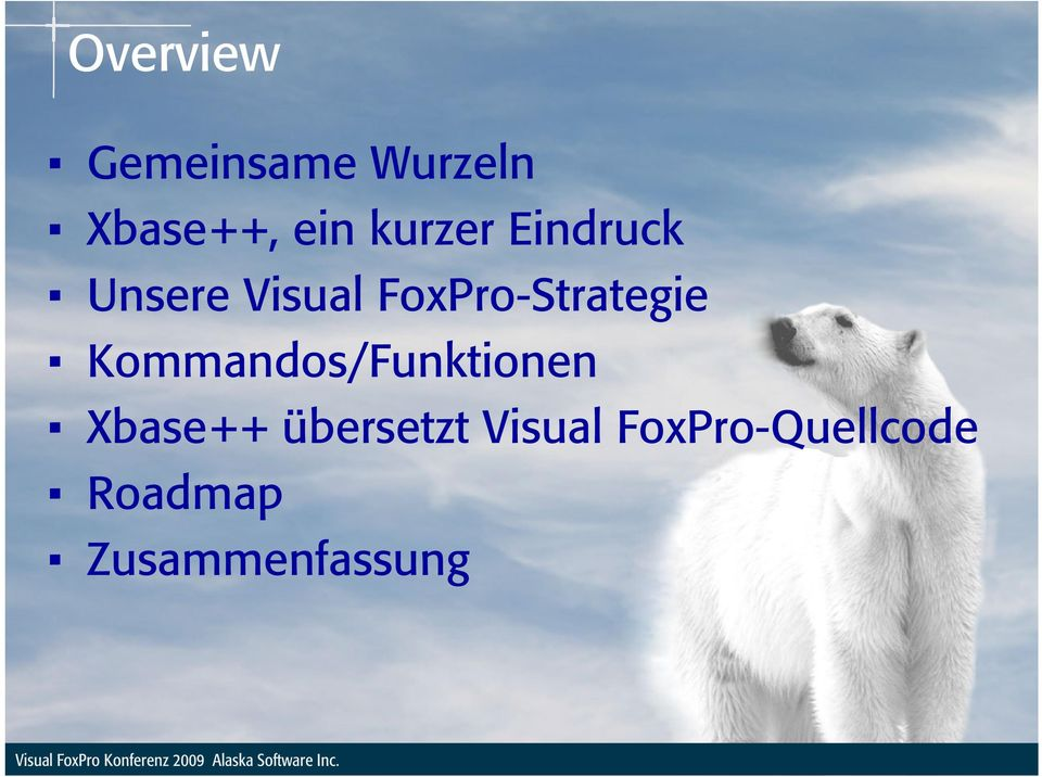 FoxPro-Strategie Kommandos/Funktionen