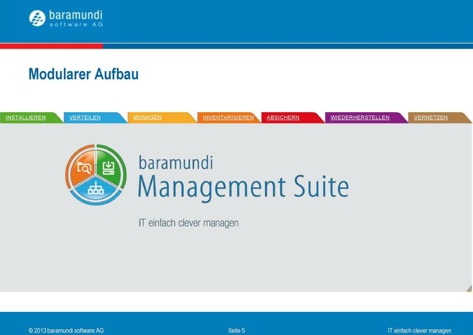 baramundi Deploy OS-Install Managed Inventory Patch Disaster Connect Management Recovery Software clevere Updates perfekter automatische exaktes bietet vielfältige Installation Sichern und Überblick