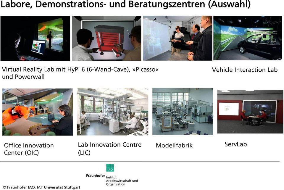 (6-Wand-Cave),»PIcasso«und Powerwall Vehicle Interaction