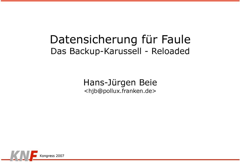 Backup-Karussell -