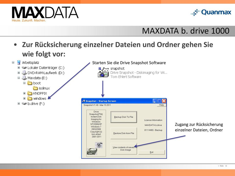 Snapshot Software MAXDATA b.