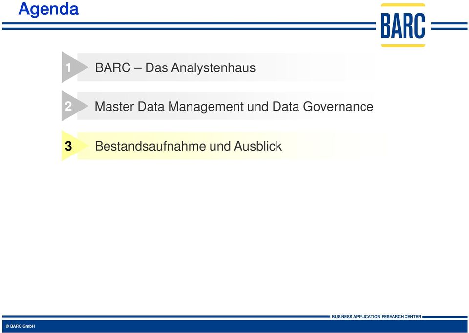 Erwartungen 2 Master Data